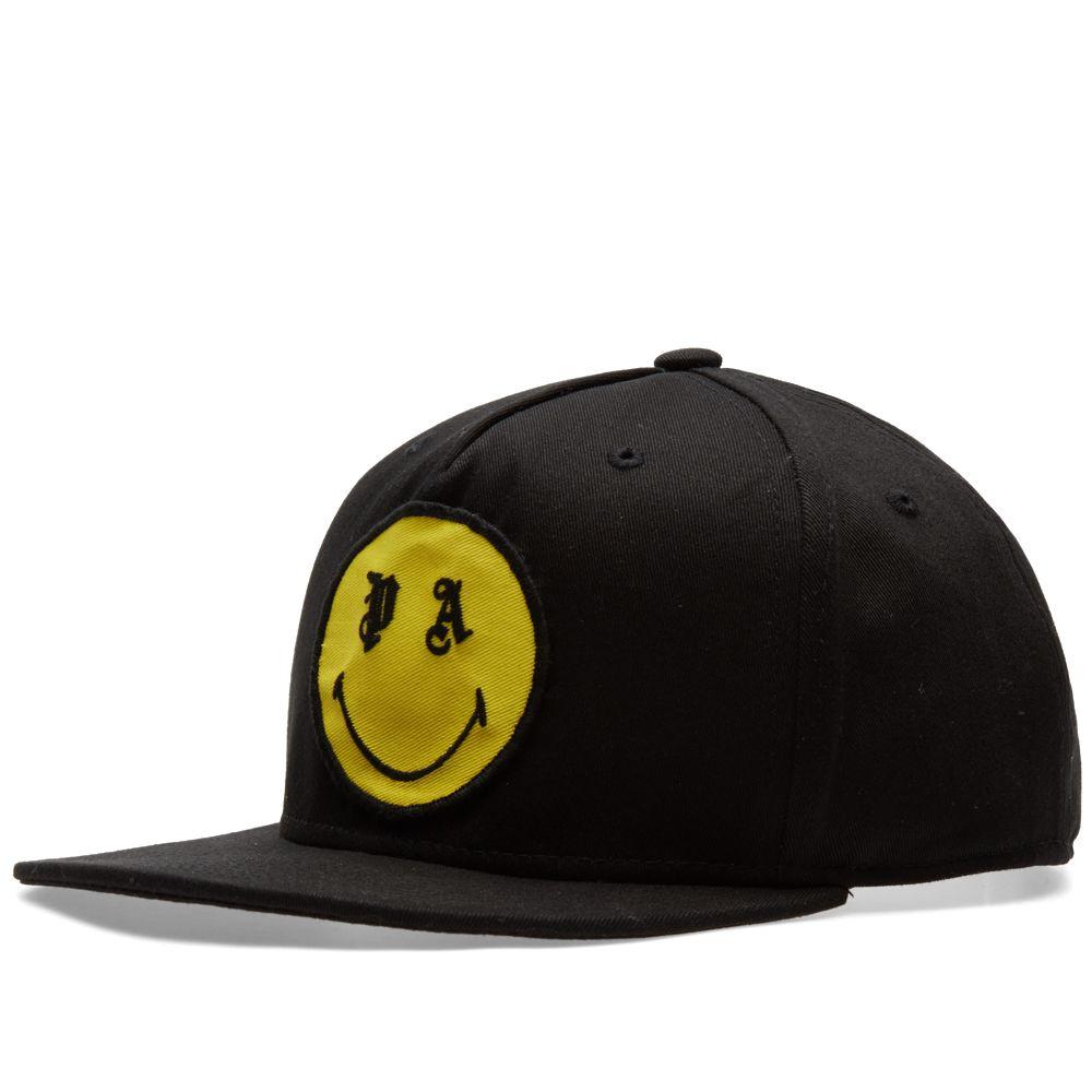 c21f4764ef4eb Palm Angels Smiling Cap Black   Yellow