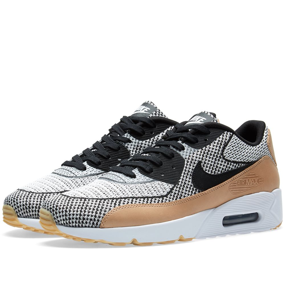 5d70366f86 Nike Air Max 90 Ultra 2.0 Jacquard BR White, Black & Gum | END.