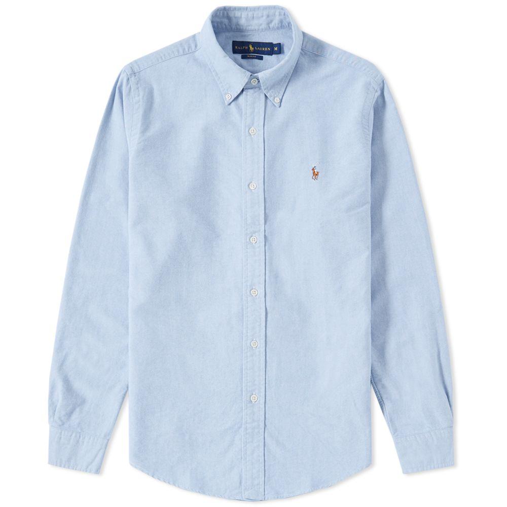 61967fdaa935 Polo Ralph Lauren Slim Fit Button Down Oxford Shirt Blue