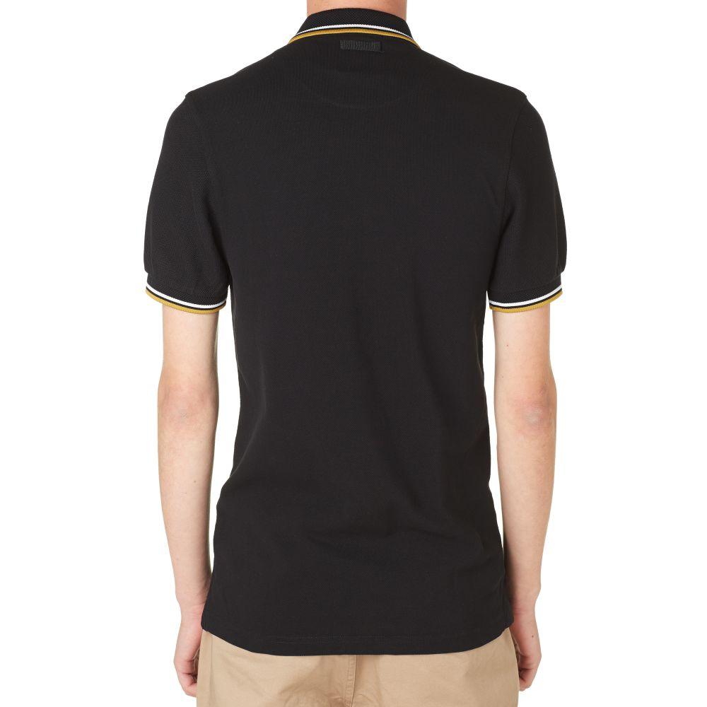 Fred Perry X Marshall Jcm Fret Cloth Polo Black End