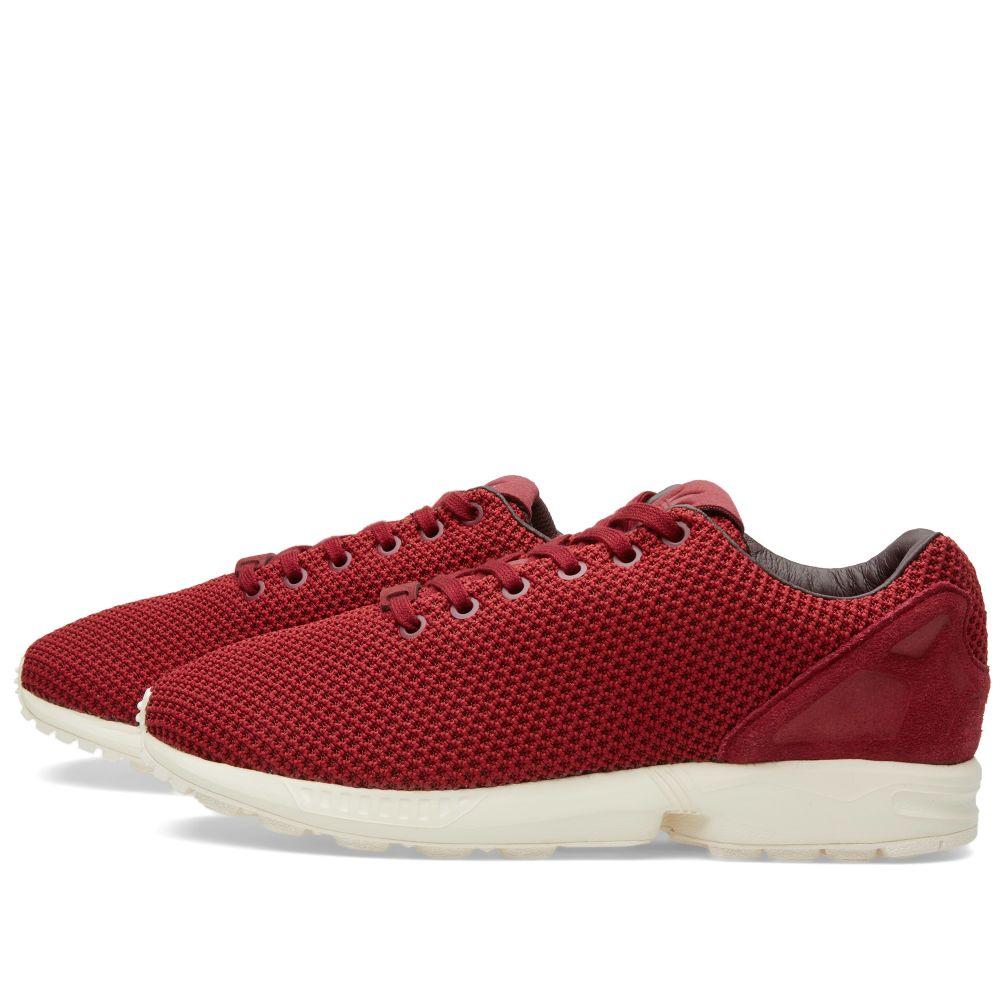 8444810f52fde Adidas ZX Flux Burgundy   Night Red