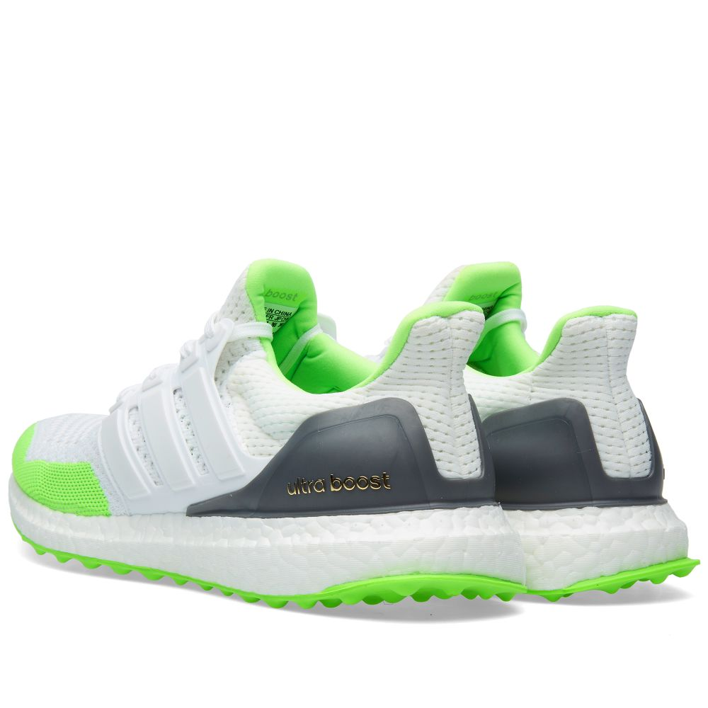 best service d77fa 858b5 Adidas x Kolor Ultra Boost. White  Solar Green. AU289. Plus Free  Shipping. image