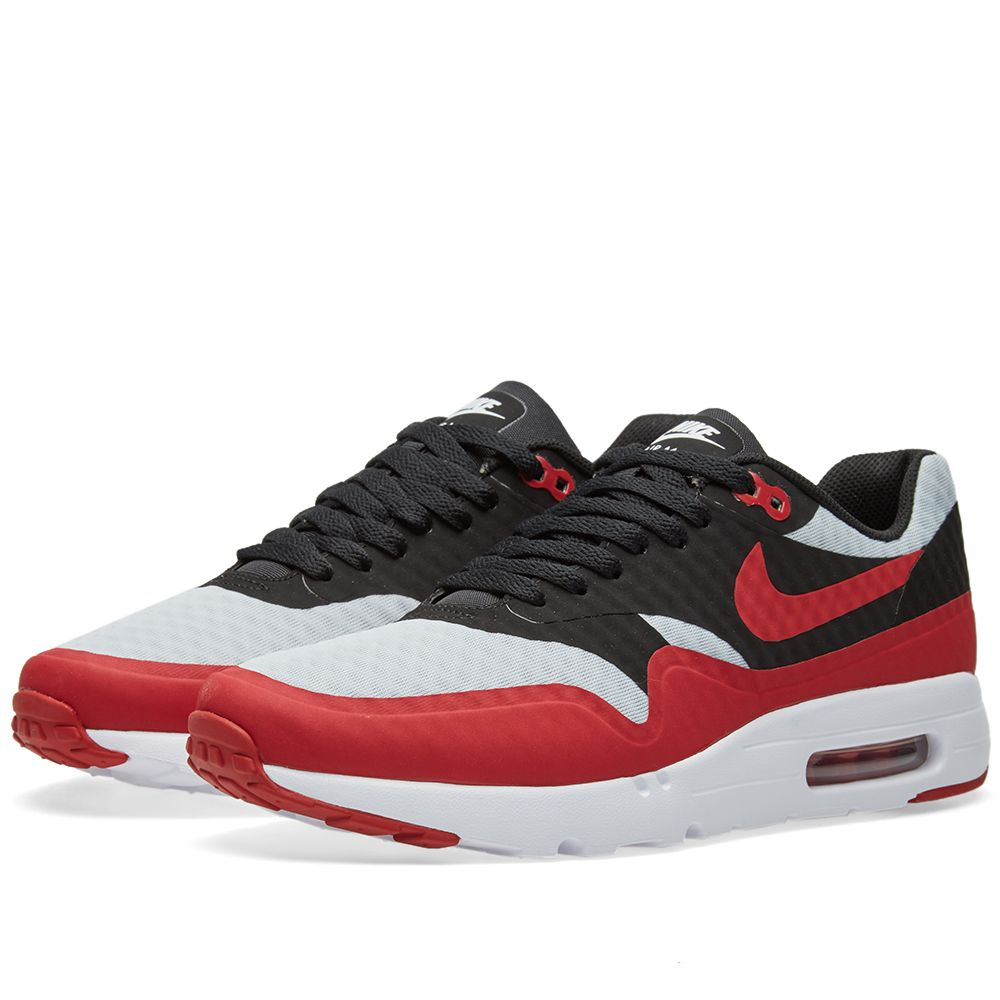 new products a2a42 9b874 Nike Air Max 1 Ultra Essential Pure Platinum  Gym Red  END.