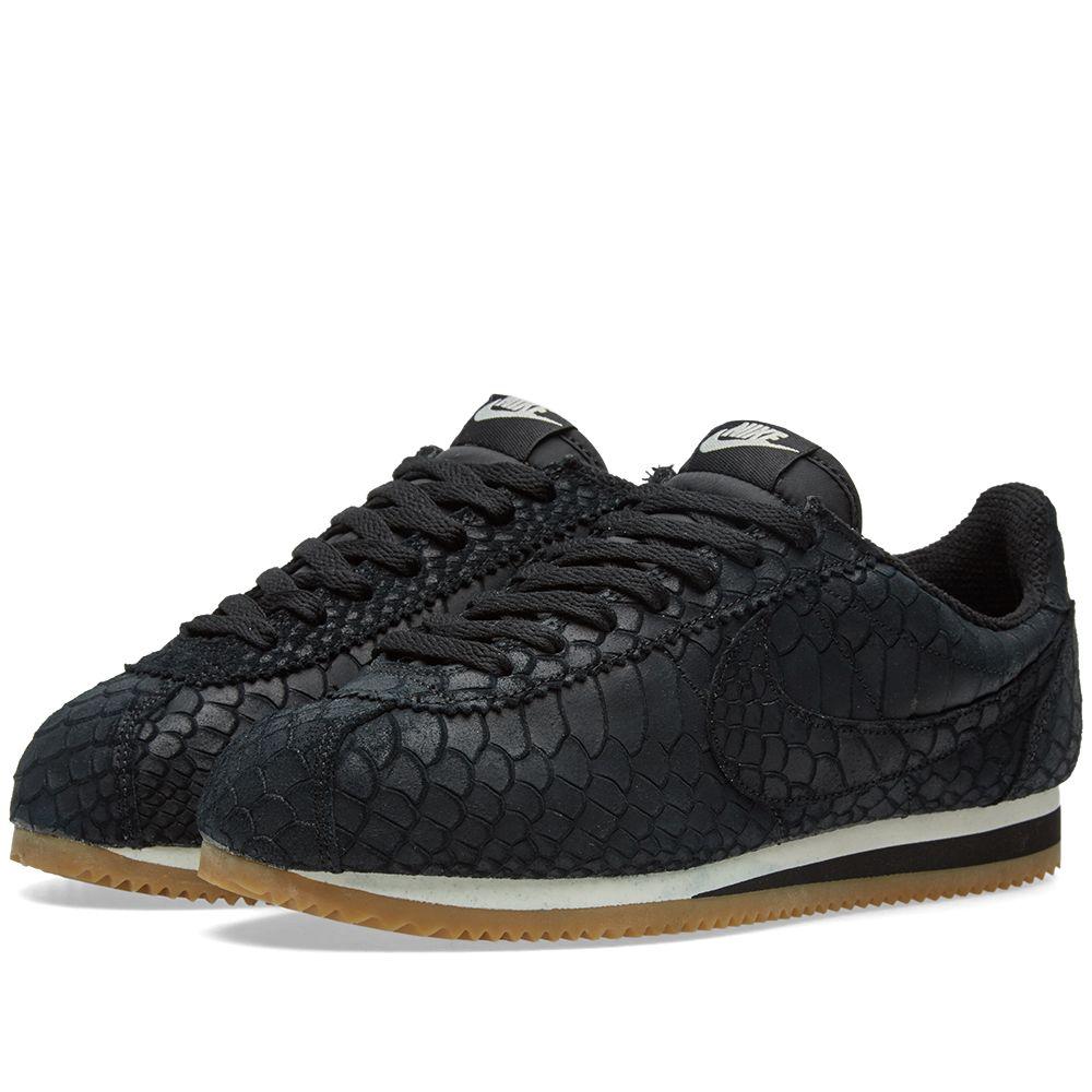 Nike Classic Cortez Leather Premium Black   Gum  7e67f4aa9861
