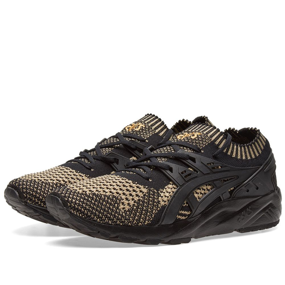 05f4130178f5 Asics Gel-Kayano Trainer Knit Lo Black   Gold