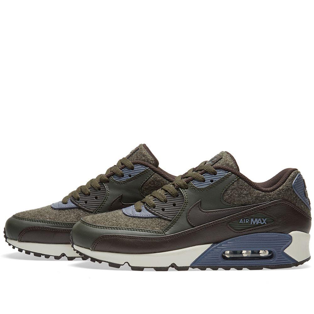 new style f7511 4d874 Nike Air Max 90 Premium Sequoia  Velvet Brown  END.