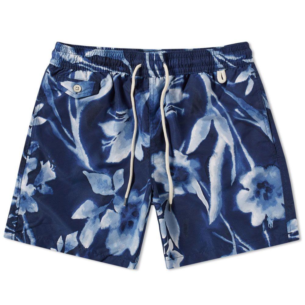 ab6b9ddada ... get polo ralph lauren classic traveller swim short. blue floral. 95 59.  image
