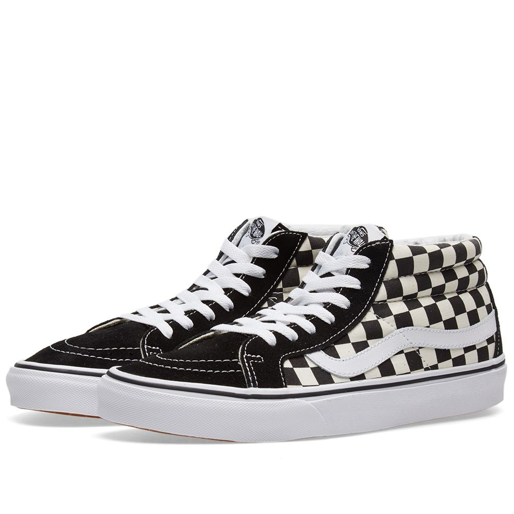 06b136608c Vans Sk8-Mid Reissue Checkerboard   True White