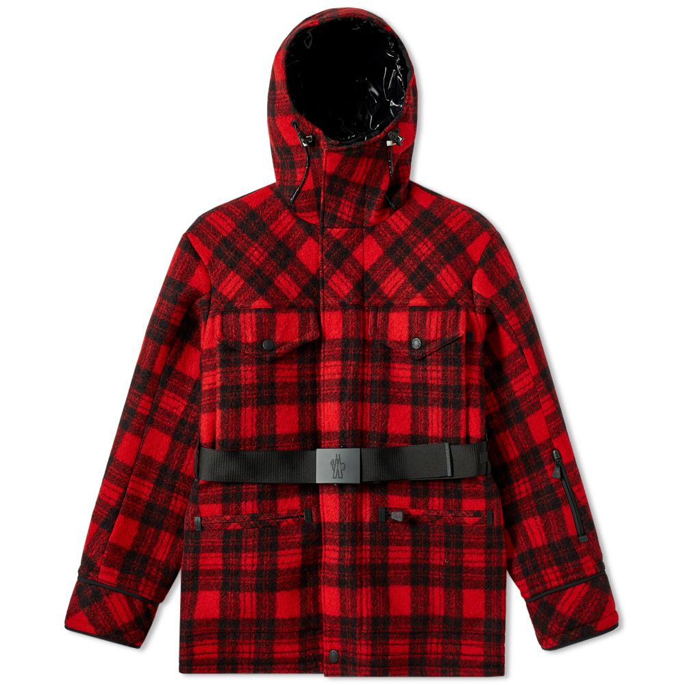 c470e15ec84df Moncler genius grenoble stowe jacket red black check end jpg 1000x1000 Moncler  red coat