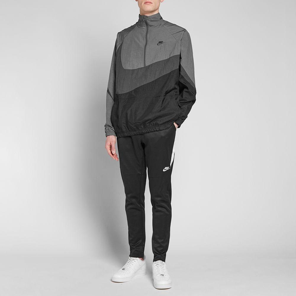 Nike NSW Swoosh Woven Half Zip Jacket Black 677364bd4