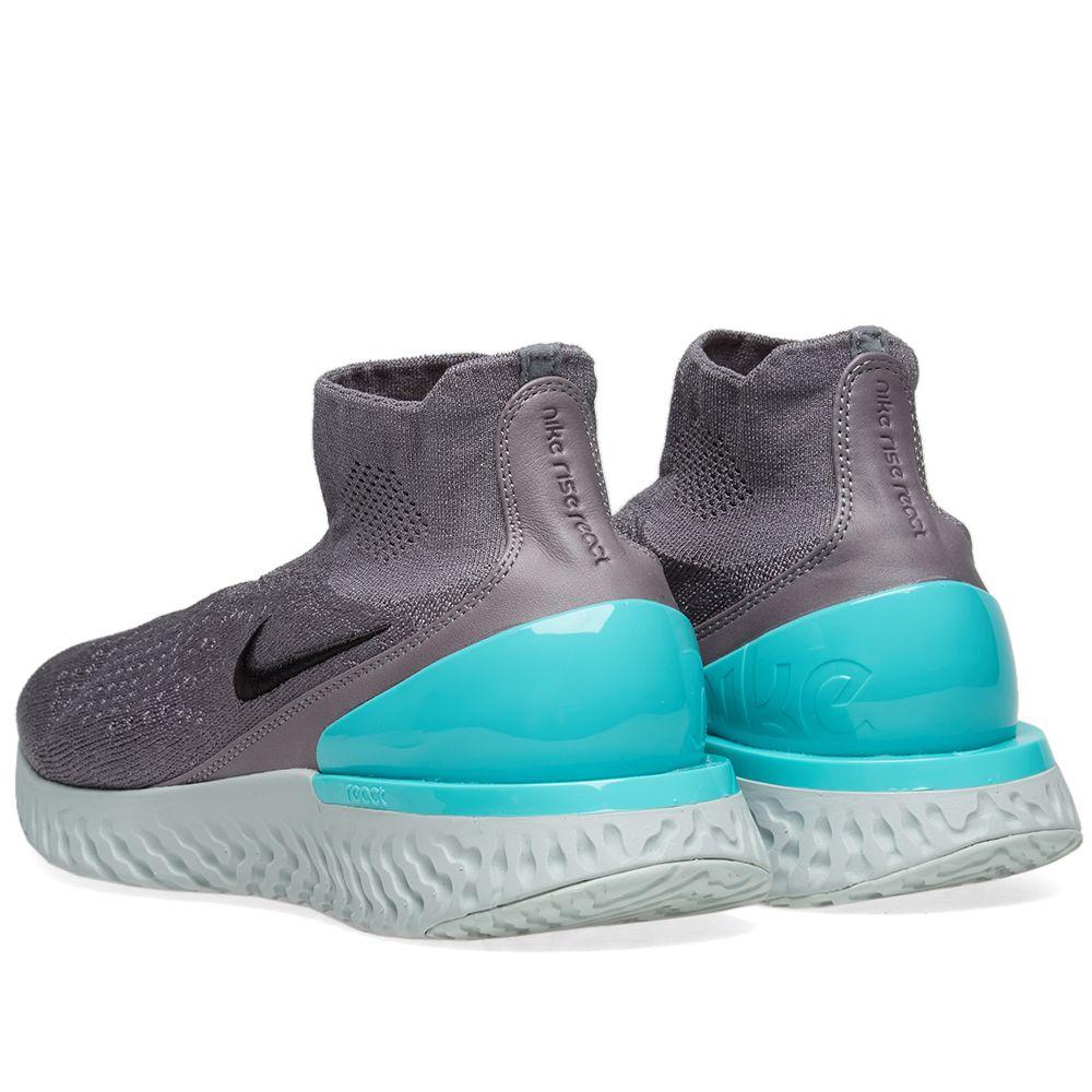 6d56d30d8ba96f Nike Rise React Flyknit Gunsmoke