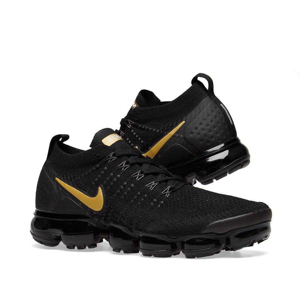 new styles e4905 c7698 Nike Air VaporMax Flyknit 2 W Black, Gold  Platinum  END.