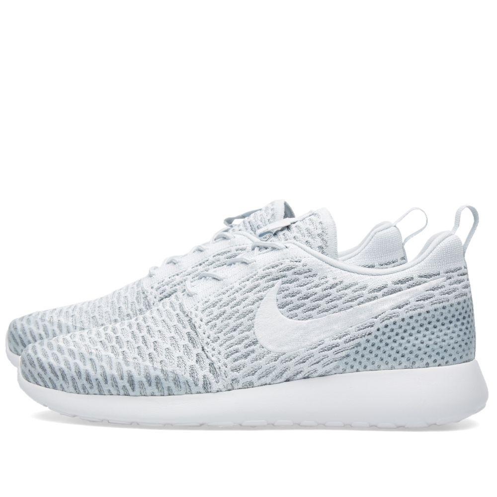 1b598319f442 Nike W Roshe One Flyknit Pure Platinum   White