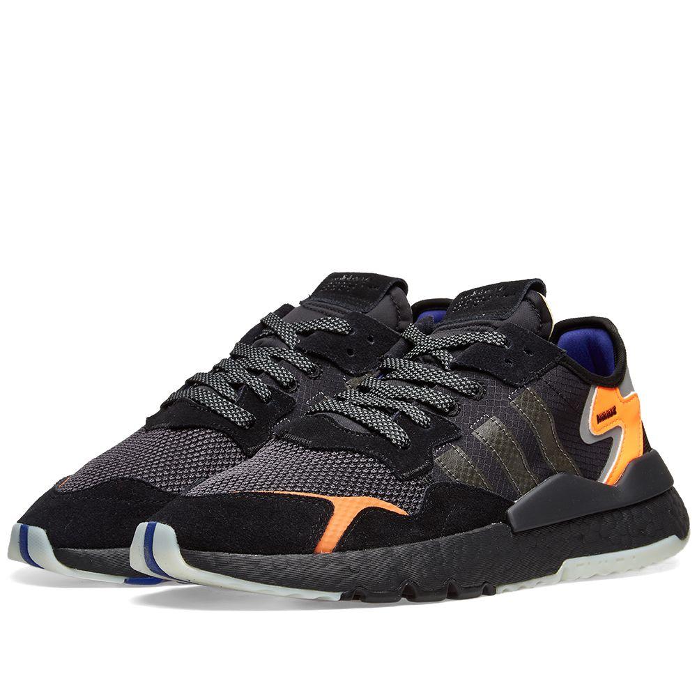 big sale b018a b37e8 Adidas Nite Jogger Core Black  END.