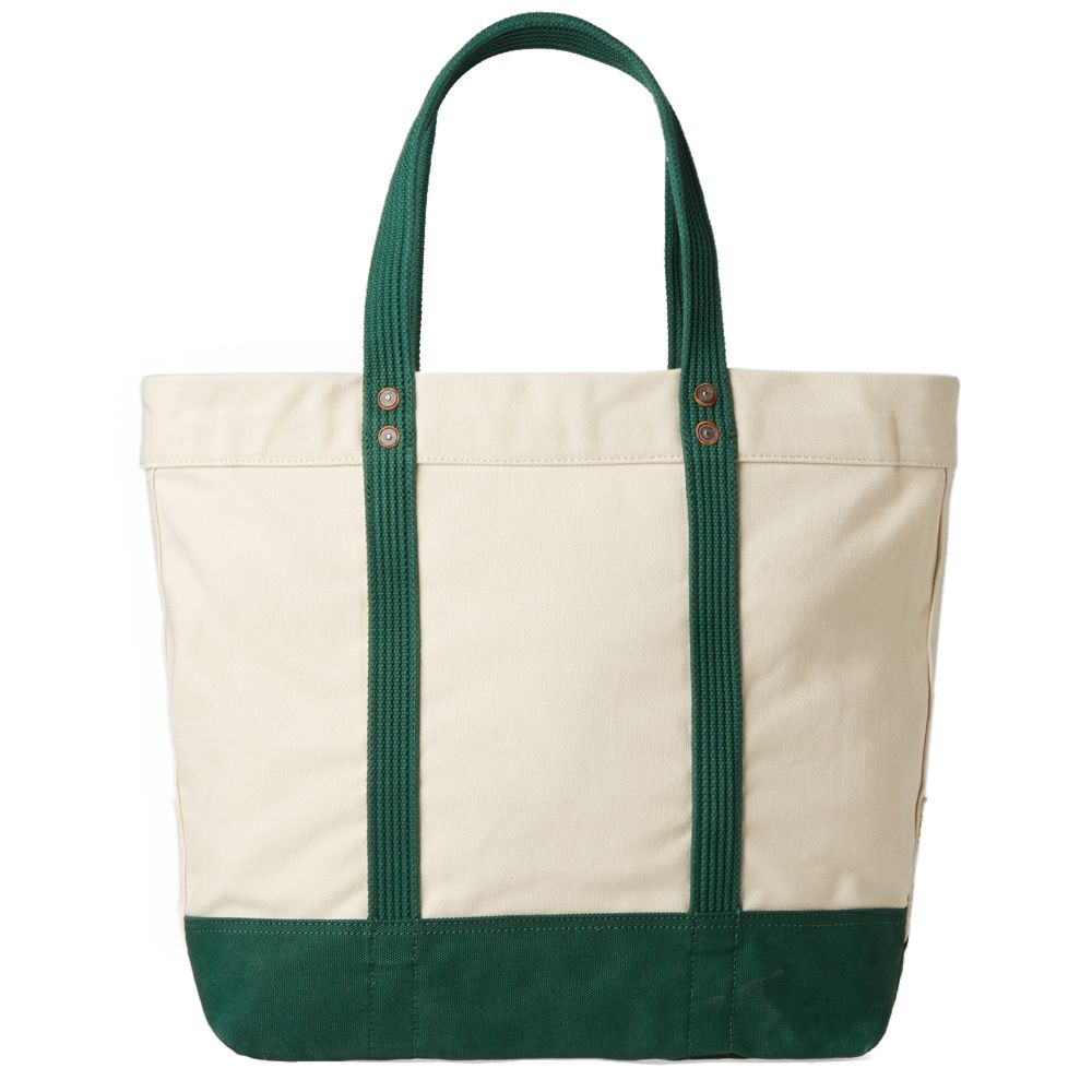 1c243aaf6a Polo Ralph Lauren Embroidered Tote Bag Natural   Green
