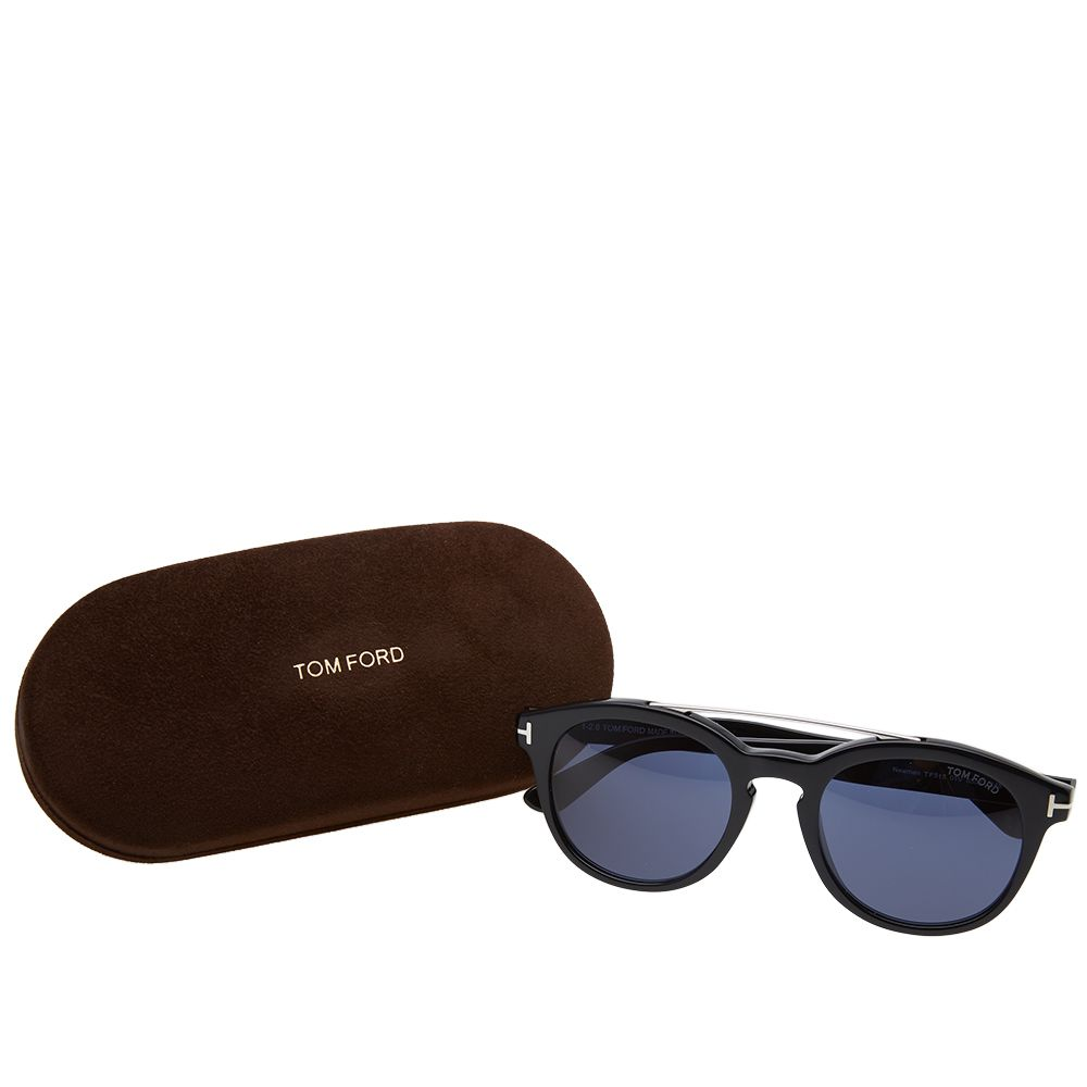 d86cd156f5 Tom Ford FT0515 Newman Sunglasses. Shiny Black   Blue. CA 369. Plus Free  Shipping. image