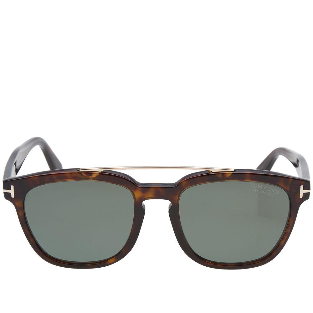 58fcc7fe2d Tom Ford FT0516 Holt Sunglasses Dark Havana   Green Polarized