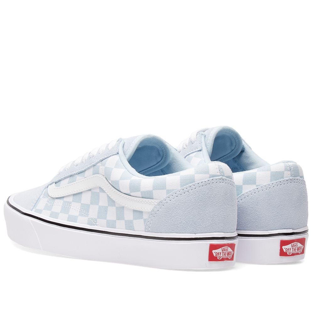 d965e3d7346275 Vans Old Skool Lite Checkerboard Baby Blue   True White