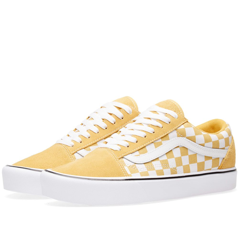 Vans Old Skool Lite Checkerboard Ochre   True White  66819c072