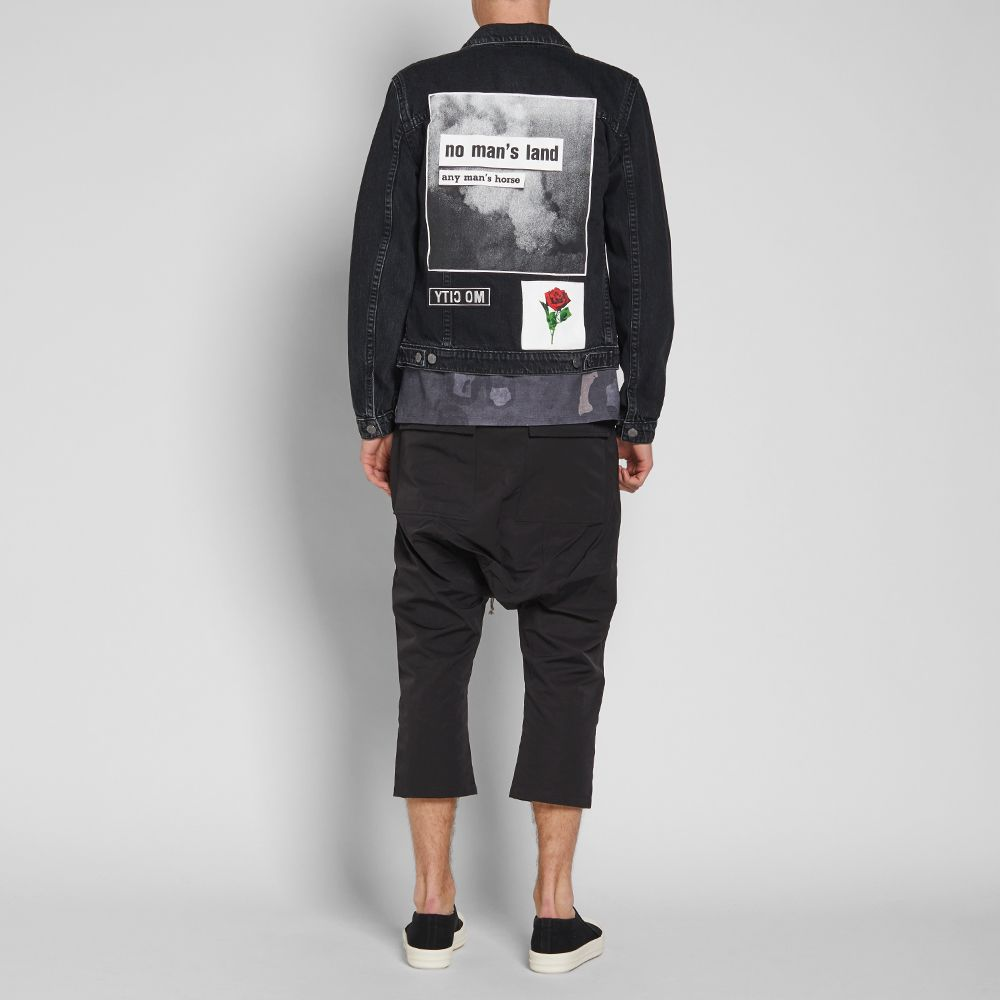 5af2164b9f Helmut Lang x Travis Scott Smoke Patch Denim Jacket Washed Black