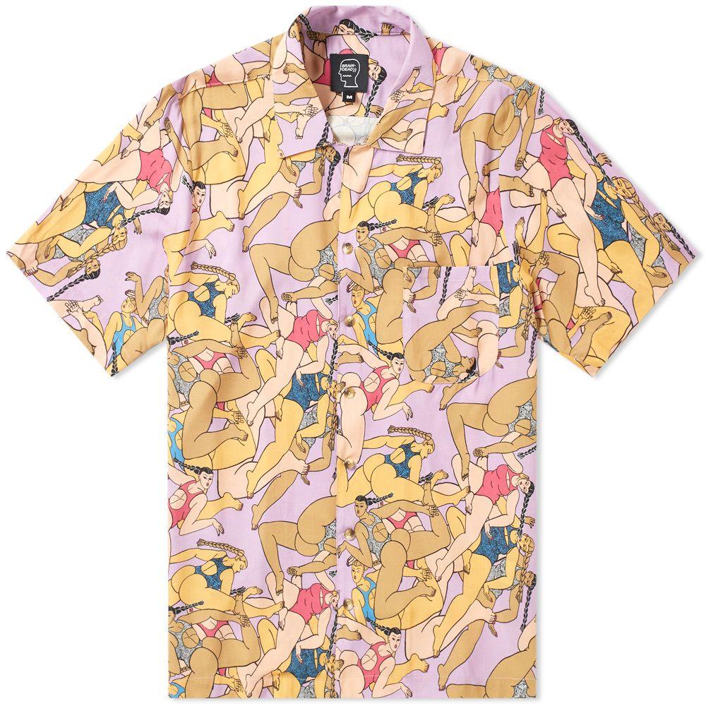 Brain Dead Hawaiian Shirt Pink End