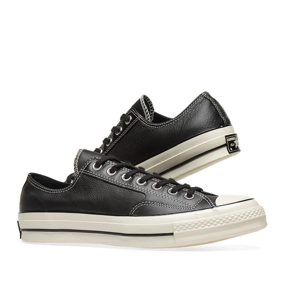 1a038da8154f Converse Chuck Taylor 1970s Ox Premium Leather Black   Egret