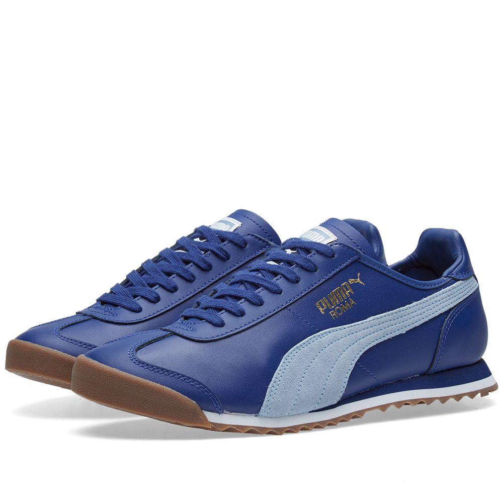 053b1607f1ee56 Puma Roma OG 80s. Twilight Blue   Blue Fog. £69 £35. image