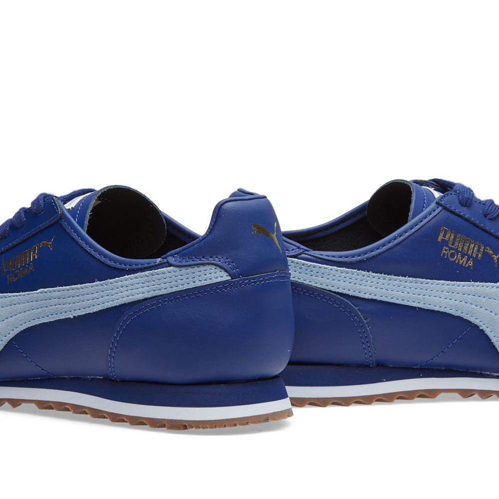 61fa84984cd44b Puma Roma OG 80s. Twilight Blue   Blue Fog. £69 £35. image. image. image.  image. image