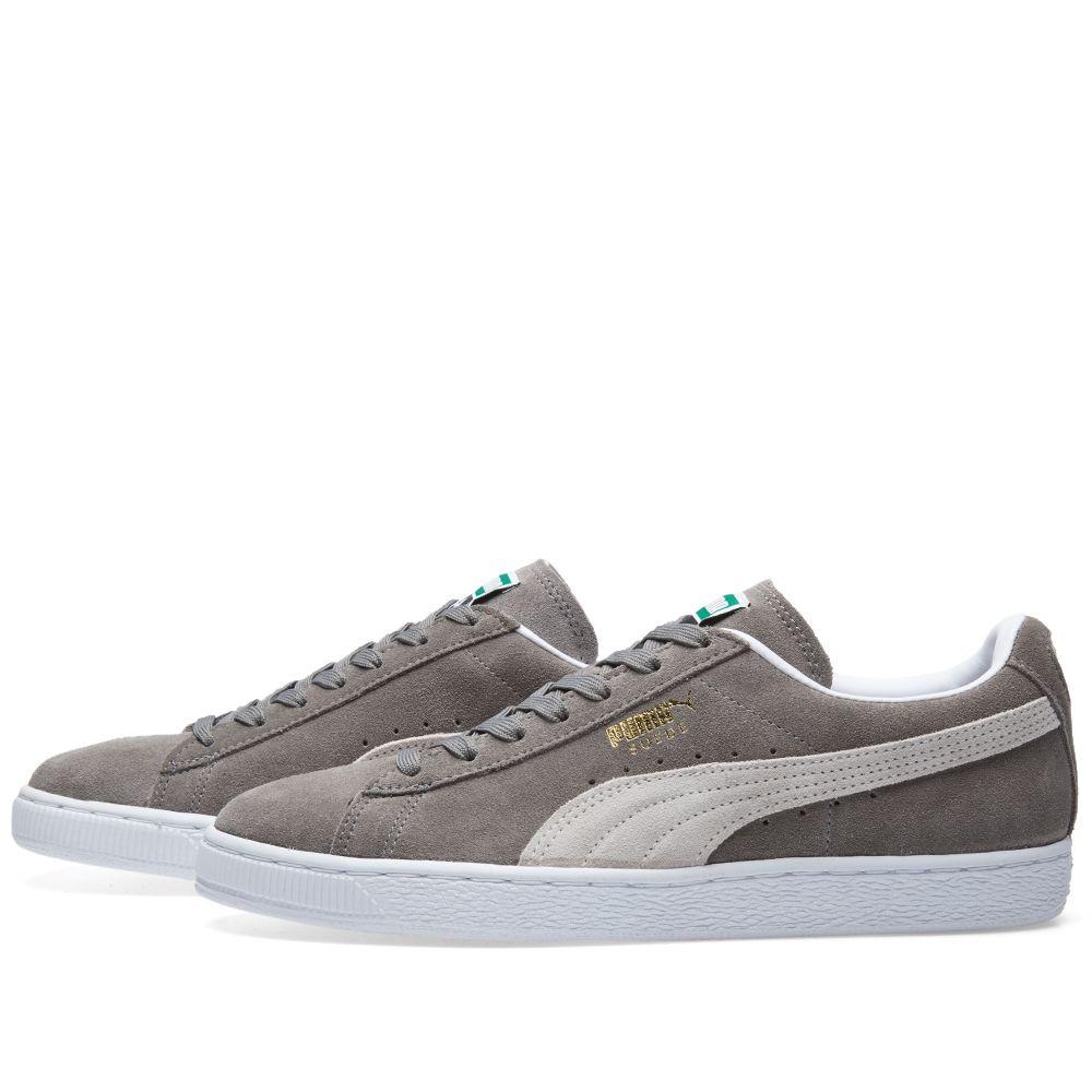 469ff2e4ede3 Puma Suede Classic + Steeple Grey   White
