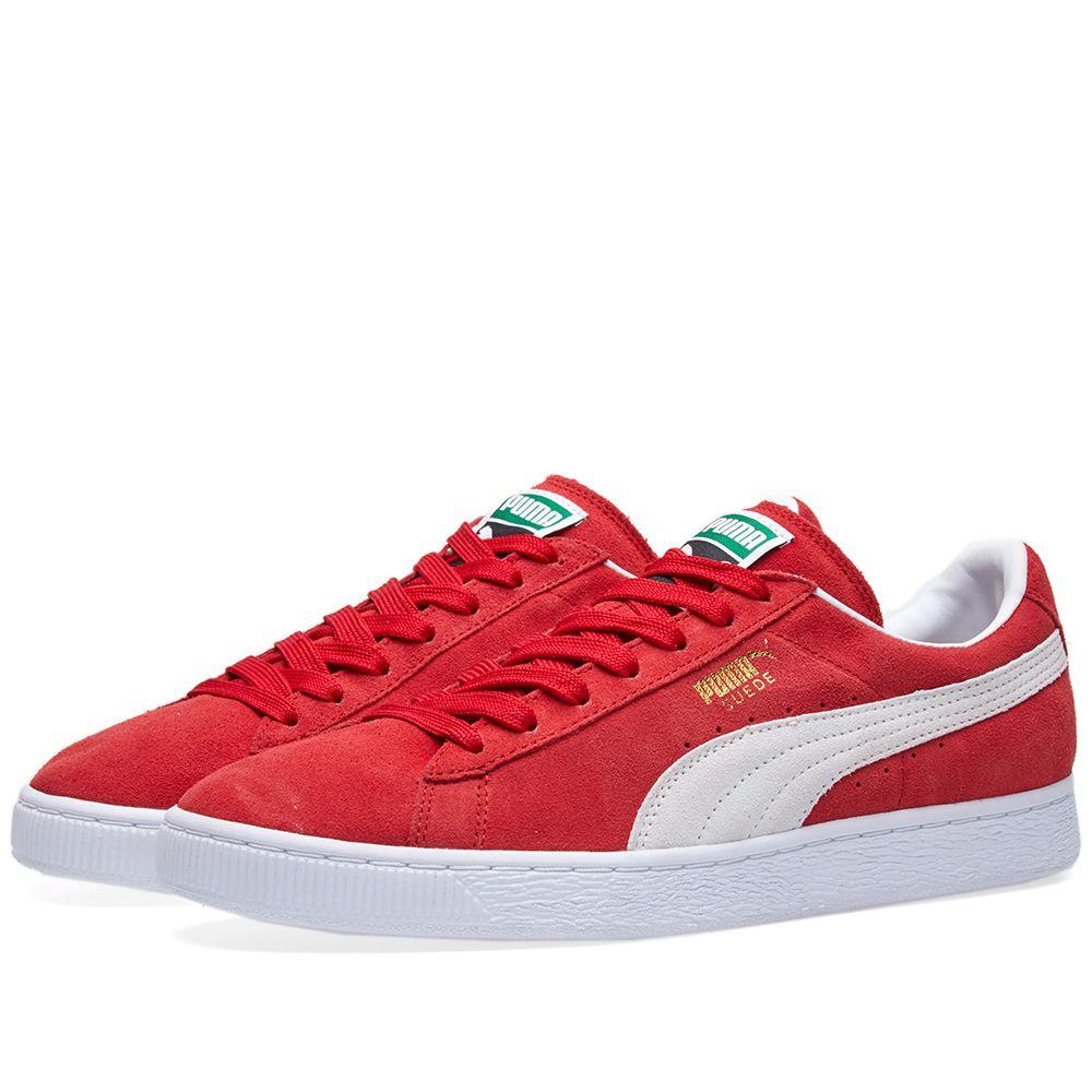 865dd59a2871 Puma Suede Classic + Team Regal Red   White