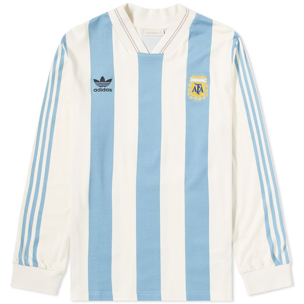 f5080137cf0b Adidas Argentina Jersey Tee Echo White   Shade Blue