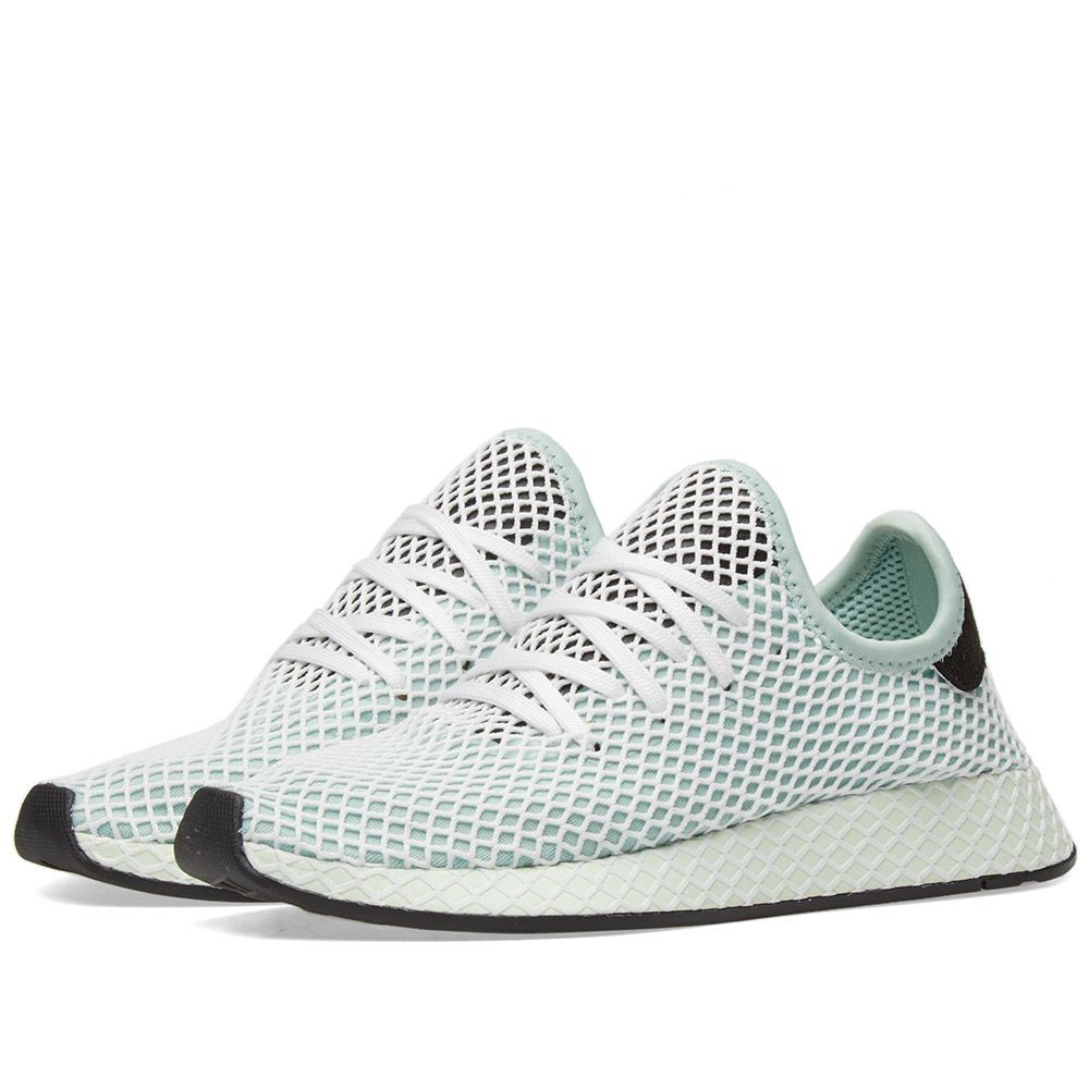 separation shoes d522b 87f3e Adidas Deerupt Runner W Ash Green  Black  END.
