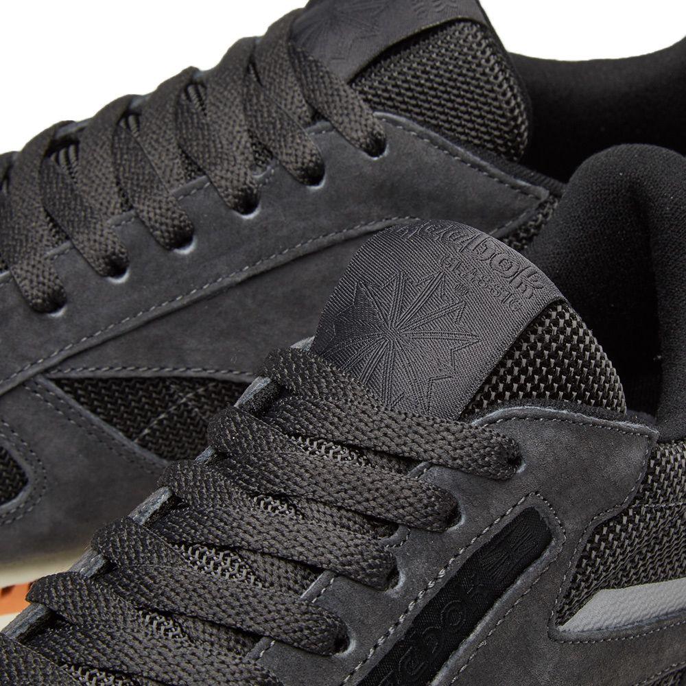 9104a4d5f07f5 Reebok Classic Leather Ripple Coal