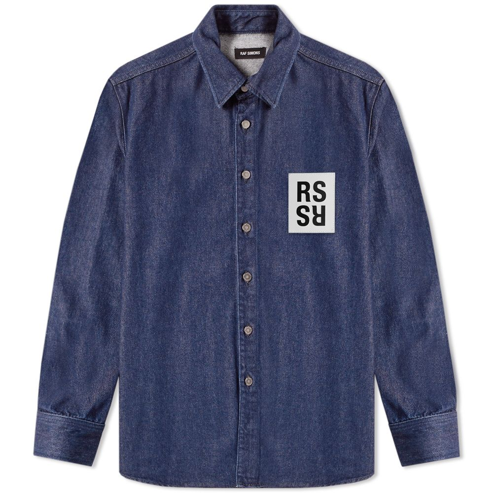 50c13d1a023 homeRaf Simons Patch Logo Denim Shirt. image. image. image. image. image.  image. image