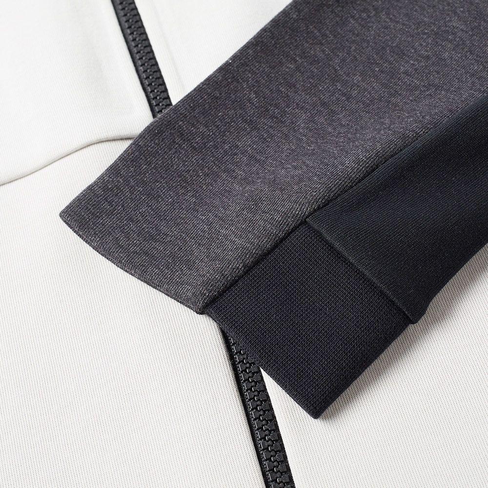 45004bb96eed Nike Tech Fleece Varsity Jacket Light Bone   Black Heather