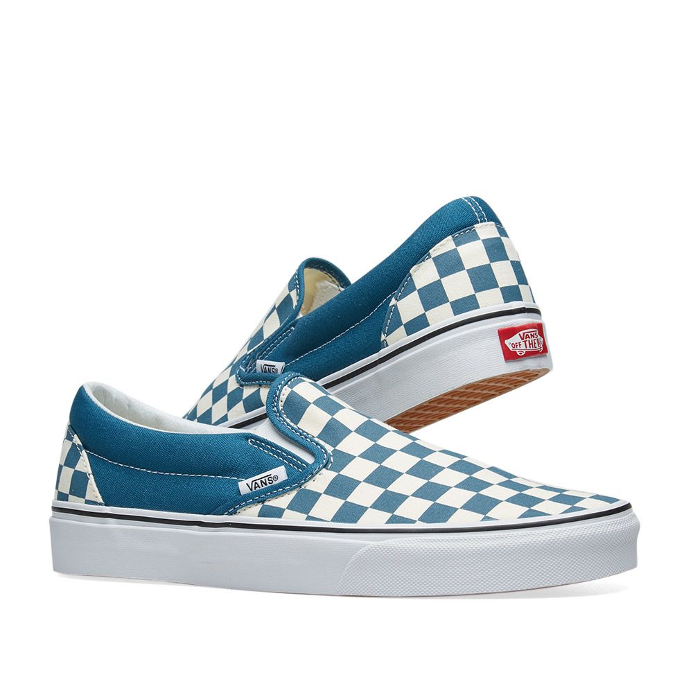 627acbc21a4b Vans Classic Slip On Checkerboard Corsair   True White