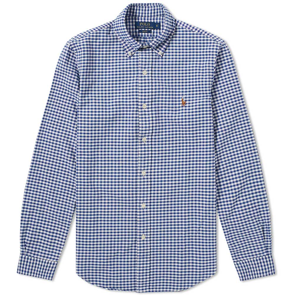 45d2fd03 Polo Ralph Lauren Slim Fit Button Down Gingham Oxford Shirt