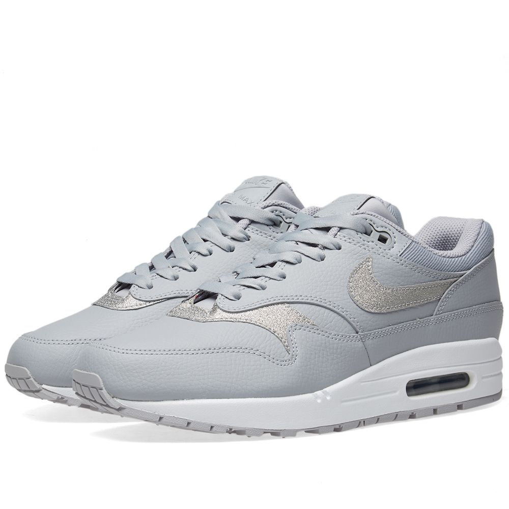Nike Air Max 1 SE W Wolf Grey   Pure Platinum  988a392dc404