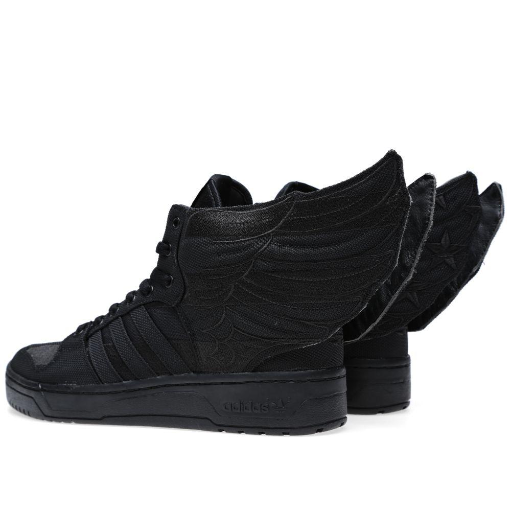 free shipping 278b9 854a2 Adidas ObyO x Jeremy Scott x AAP Rocky Wings 2.0 Black Flag