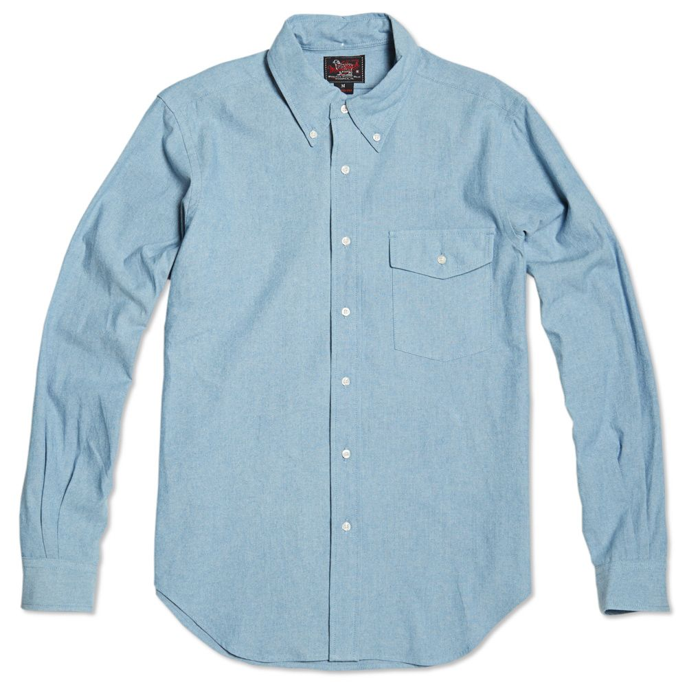 d533314be8e Woolrich Woolen Mills Biff Button Down Shirt Indigo Chambray