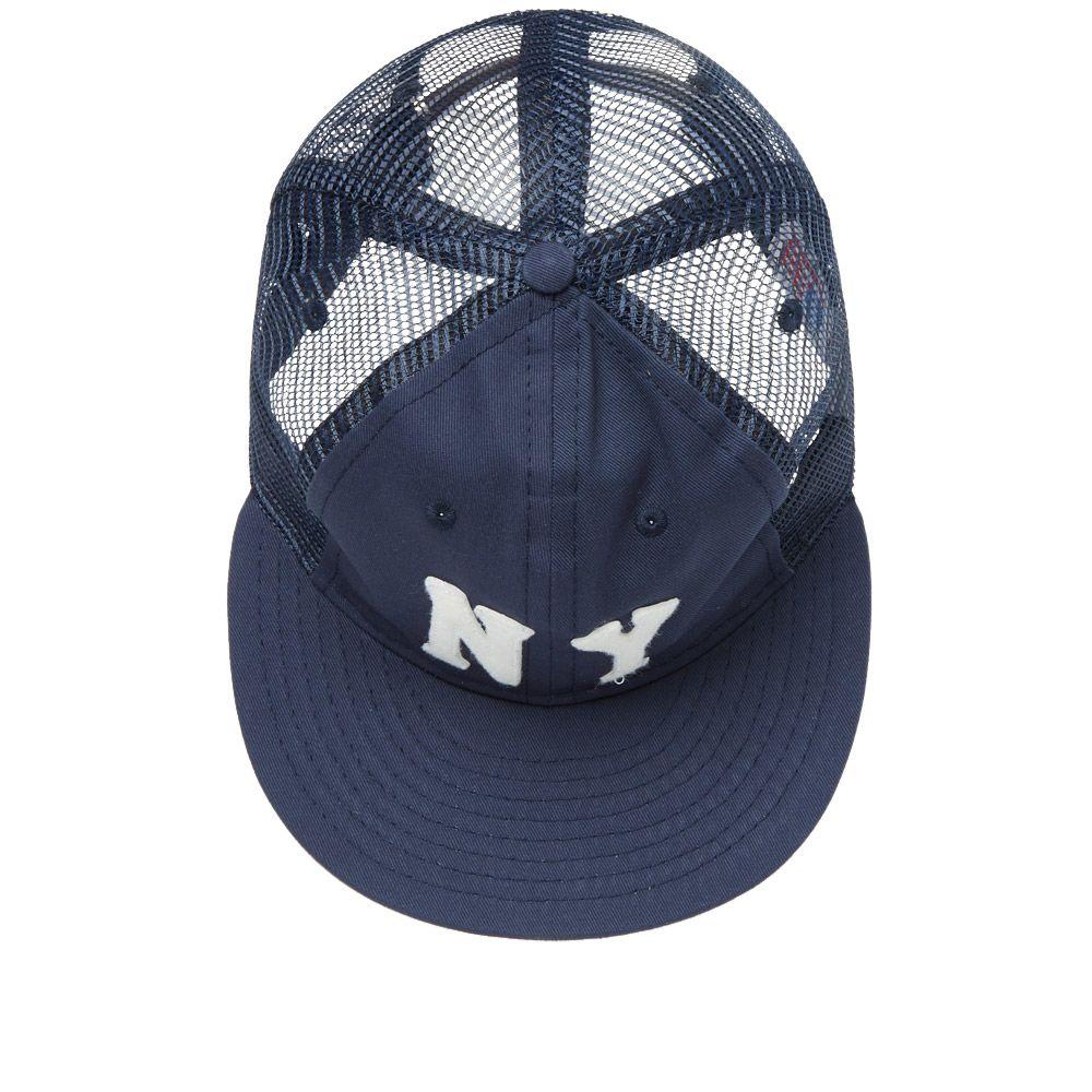 64c19483bd1 Ebbets Field Flannels New York Black Yankees 1936 Trucker Cap Navy ...