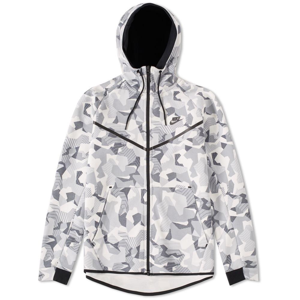 efc913e81b8f Nike Tech Fleece Camo Windrunner White   Black