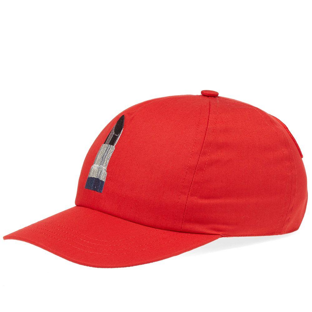 1af7f412f753 Acne Studios Diner Calis Soft Cap Red   White