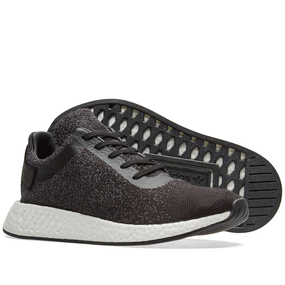 new product 04f27 885bf Adidas x Wings + Horns NMD R2 PK. Core Black  Grey