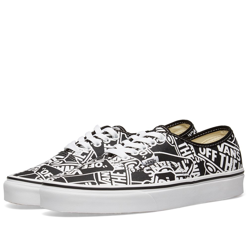 ffc17d575e3d Vans Off The Wall Printed Authentic Black   True White