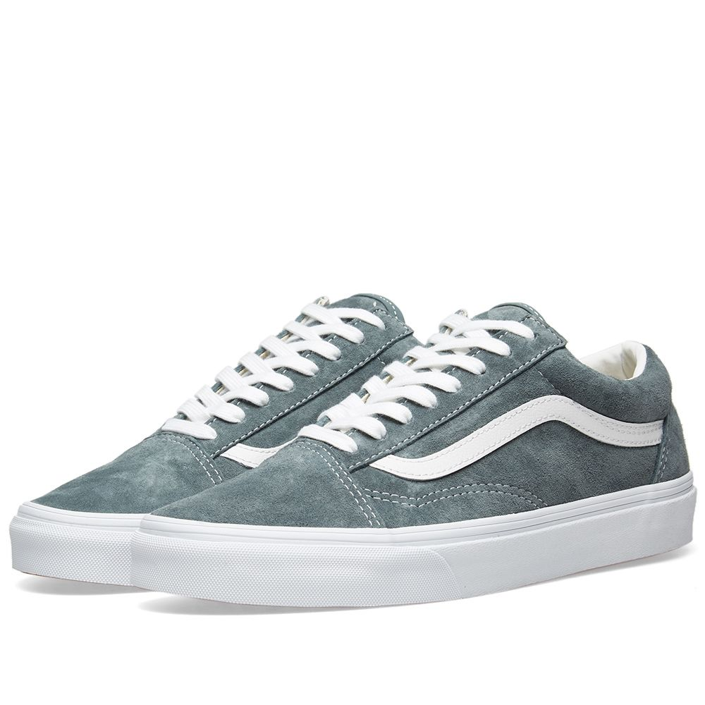 13d1af0bc86b5 Vans Old Skool Pig Suede Stormy Weather   True White