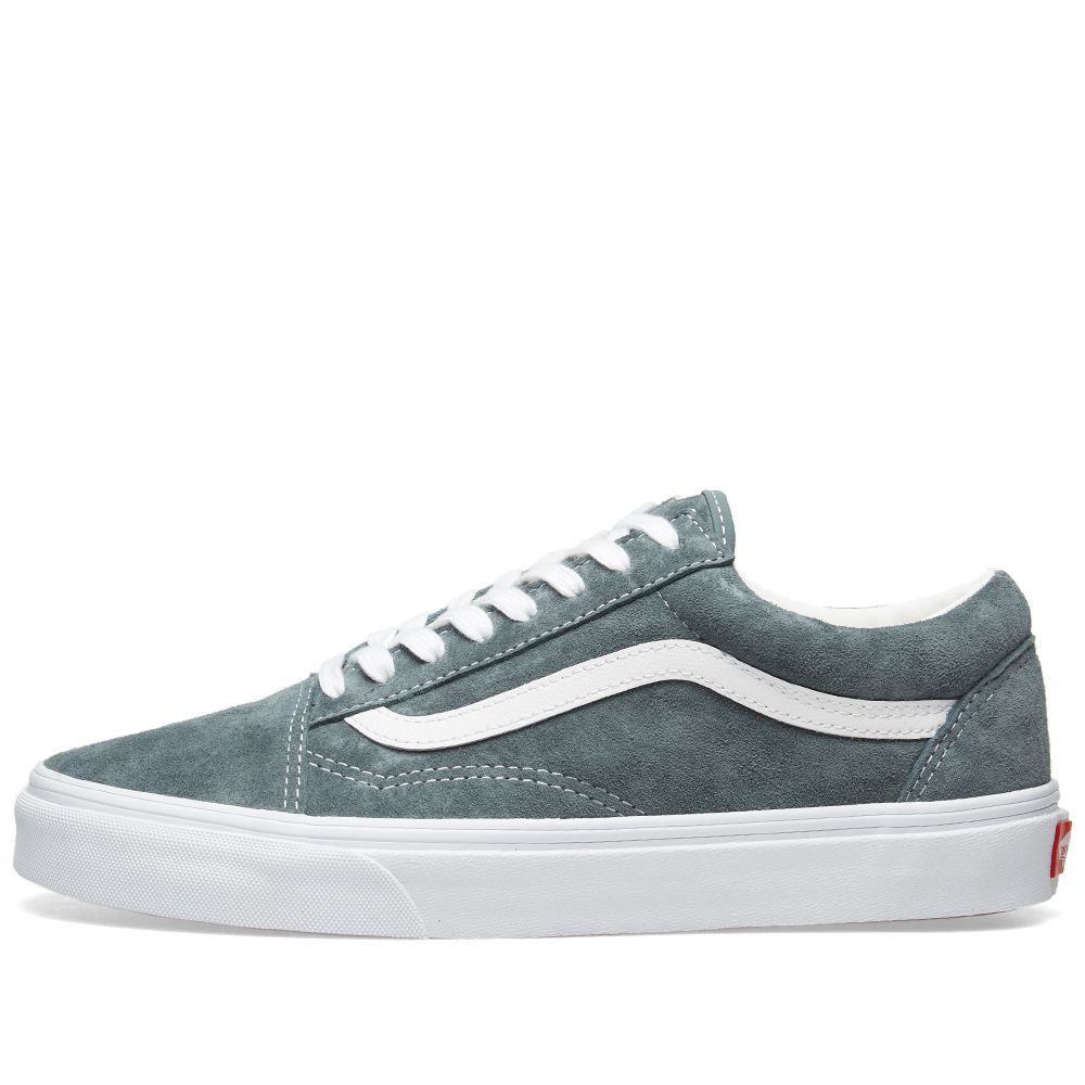 6d160119e45a8c Vans Old Skool Pig Suede Stormy Weather   True White