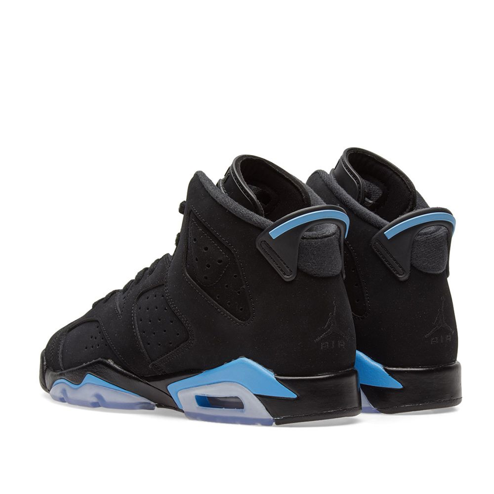 2b221d808b8727 Nike Air Jordan 6 Retro BG Black   University Blue
