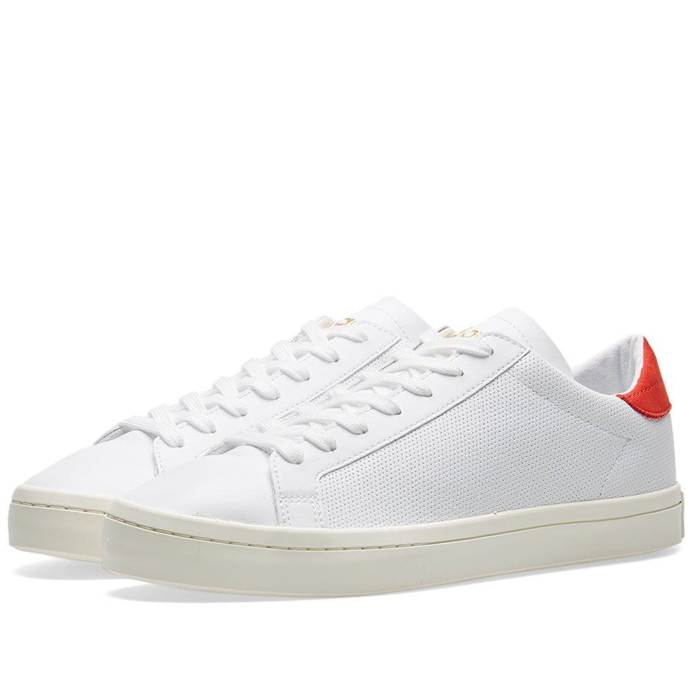innovative design 484b3 27213 Adidas Court Vantage White  Red  END.