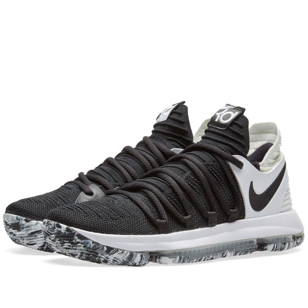 d1371b74b7e2 Nike Zoom KD10 Black   White